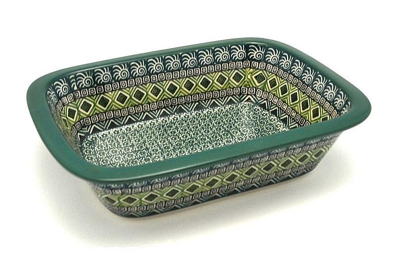 Ceramika Artystyczna Polish Pottery Baker - Rectangular with Grip Lip - Aztec Forest 162-1919q (Ceramika Artystyczna)