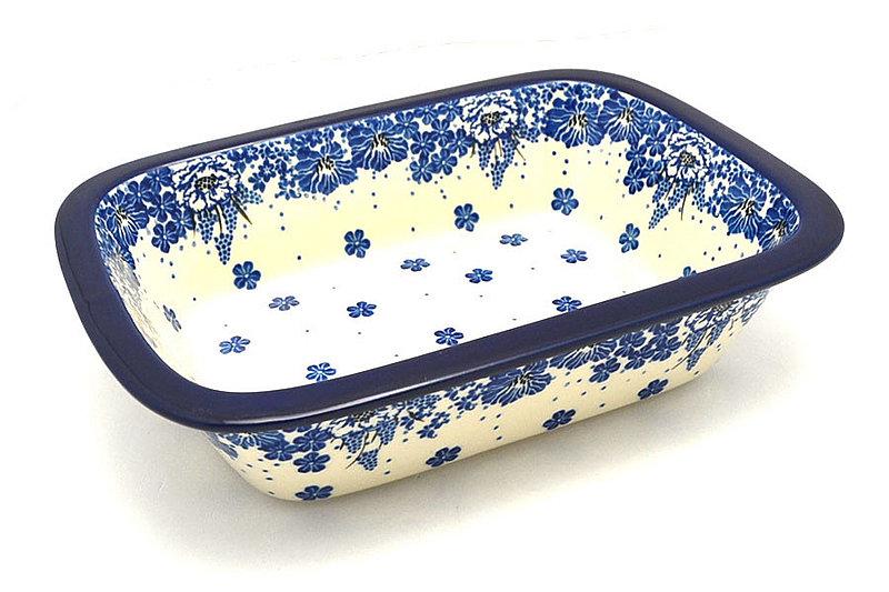 Ceramika Artystyczna Polish Pottery Baker - Rectangular with Grip Lip - Blue Bayou 162-1975a (Ceramika Artystyczna)