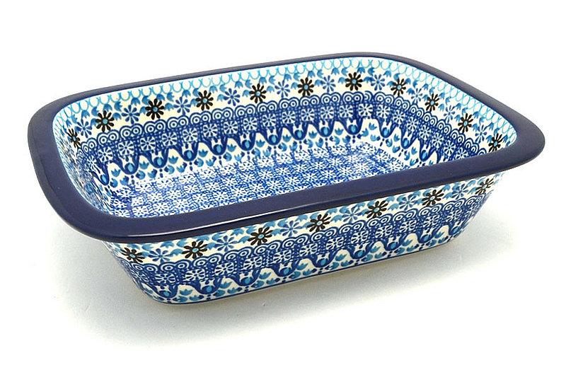 Ceramika Artystyczna Polish Pottery Baker - Rectangular with Grip Lip - Blue Yonder 162-2187a (Ceramika Artystyczna)