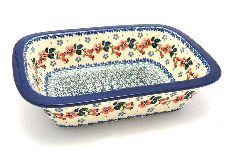 Ceramika Artystyczna Polish Pottery Baker - Rectangular with Grip Lip - Cherry Blossom 162-2103a (Ceramika Artystyczna)