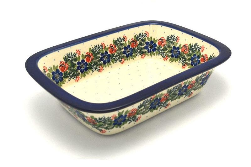 Ceramika Artystyczna Polish Pottery Baker - Rectangular with Grip Lip - Garden Party 162-1535a (Ceramika Artystyczna)