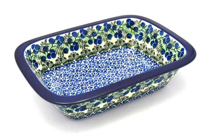 Ceramika Artystyczna Polish Pottery Baker - Rectangular with Grip Lip - Huckleberry 162-1413a (Ceramika Artystyczna)