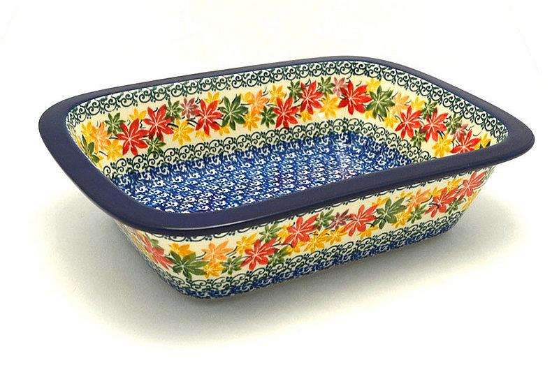 Ceramika Artystyczna Polish Pottery Baker - Rectangular with Grip Lip - Maple Harvest 162-2533a (Ceramika Artystyczna)