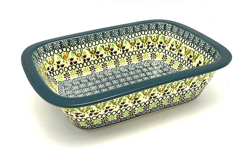Ceramika Artystyczna Polish Pottery Baker - Rectangular with Grip Lip - Mint Chip 162-2195q (Ceramika Artystyczna)