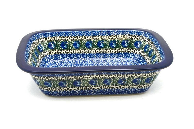 Ceramika Artystyczna Polish Pottery Baker - Rectangular with Grip Lip - Peacock Feather 162-1513a (Ceramika Artystyczna)