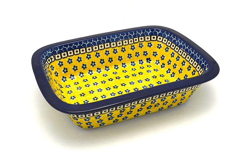 Ceramika Artystyczna Polish Pottery Baker - Rectangular with Grip Lip - Sunburst 162-859a (Ceramika Artystyczna)