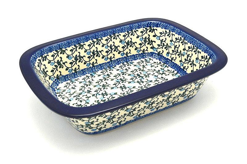 Ceramika Artystyczna Polish Pottery Baker - Rectangular with Grip Lip - Terrace Vines 162-1822a (Ceramika Artystyczna)
