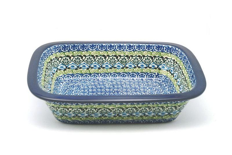Ceramika Artystyczna Polish Pottery Baker - Rectangular with Grip Lip - Tranquility 162-1858a (Ceramika Artystyczna)