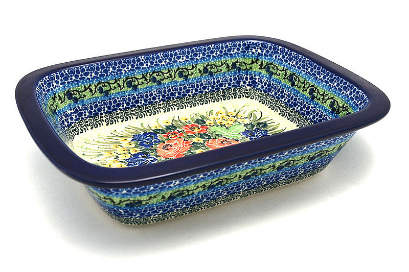 Ceramika Artystyczna Polish Pottery Baker - Rectangular with Grip Lip - Unikat Signature U4400 162-U4400 (Ceramika Artystyczna)