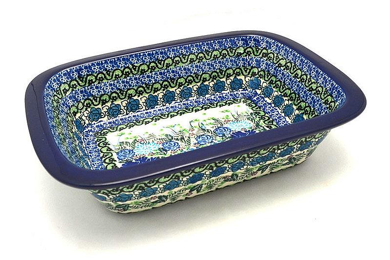 Ceramika Artystyczna Polish Pottery Baker - Rectangular with Grip Lip - Unikat Signature U4520 162-U4520 (Ceramika Artystyczna)
