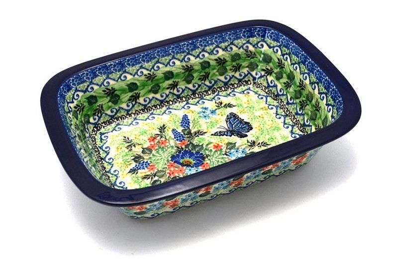 Ceramika Artystyczna Polish Pottery Baker - Rectangular with Grip Lip - Unikat Signature U4600 162-U4600 (Ceramika Artystyczna)