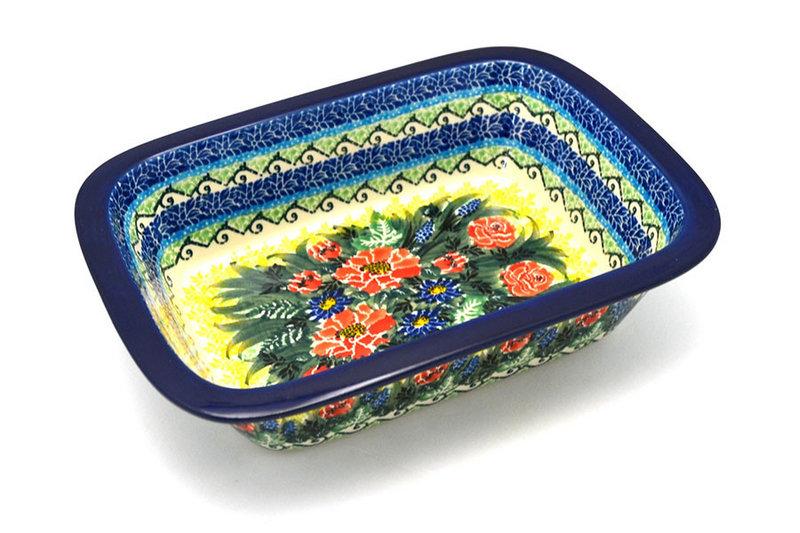 Ceramika Artystyczna Polish Pottery Baker - Rectangular with Grip Lip - Unikat Signature U4610 162-U4610 (Ceramika Artystyczna)