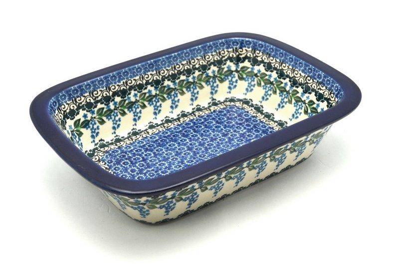 Ceramika Artystyczna Polish Pottery Baker - Rectangular with Grip Lip - Wisteria 162-1473a (Ceramika Artystyczna)