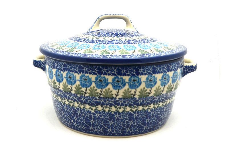 Ceramika Artystyczna Polish Pottery Baker - Round Covered Casserole - Antique Rose 278-1390a (Ceramika Artystyczna)