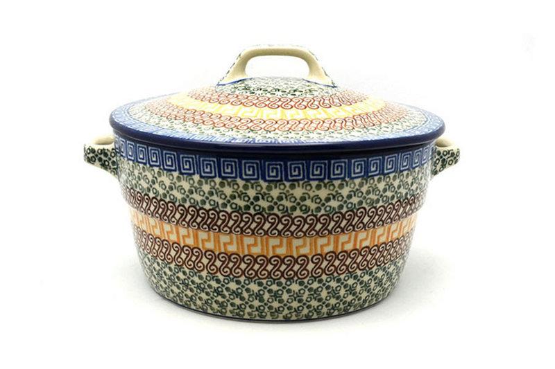 Ceramika Artystyczna Polish Pottery Baker - Round Covered Casserole - Autumn 278-050a (Ceramika Artystyczna)
