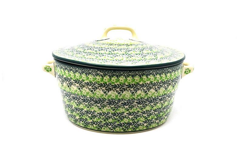 Ceramika Artystyczna Polish Pottery Baker - Round Covered Casserole - Irish Meadow 278-1888q (Ceramika Artystyczna)