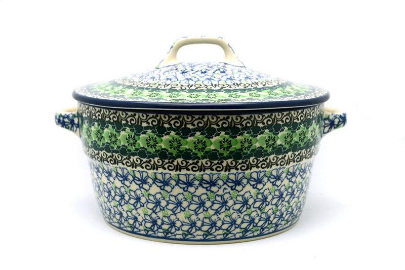 Ceramika Artystyczna Polish Pottery Baker - Round Covered Casserole - Kiwi 278-1479a (Ceramika Artystyczna)