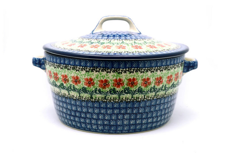 Ceramika Artystyczna Polish Pottery Baker - Round Covered Casserole - Maraschino 278-1916a (Ceramika Artystyczna)
