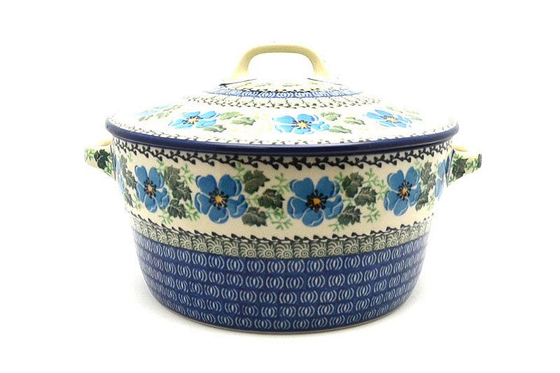 Ceramika Artystyczna Polish Pottery Baker - Round Covered Casserole - Morning Glory 278-1915a (Ceramika Artystyczna)
