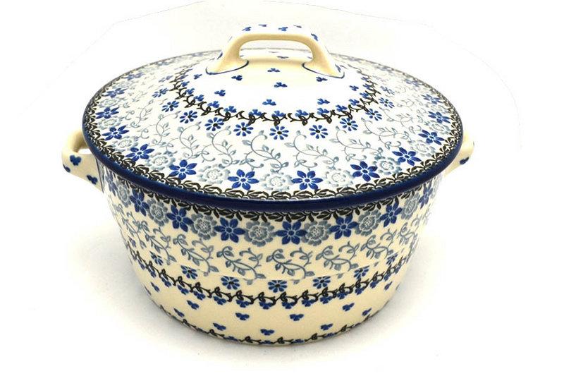 Ceramika Artystyczna Polish Pottery Baker - Round Covered Casserole - Silver Lace 278-2158a (Ceramika Artystyczna)