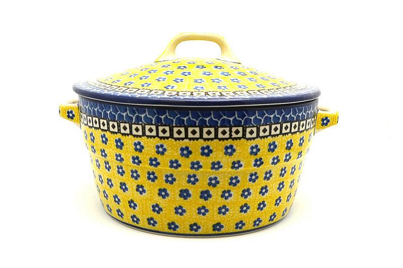 Ceramika Artystyczna Polish Pottery Baker - Round Covered Casserole - Sunburst 278-859a (Ceramika Artystyczna)