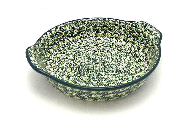 Ceramika Artystyczna Polish Pottery Baker - Round with Grips - Large - Irish Meadow 417-1888q (Ceramika Artystyczna)