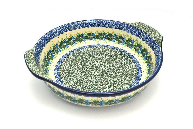 Ceramika Artystyczna Polish Pottery Baker - Round with Grips - Large - Ivy Trail 417-1898a (Ceramika Artystyczna)