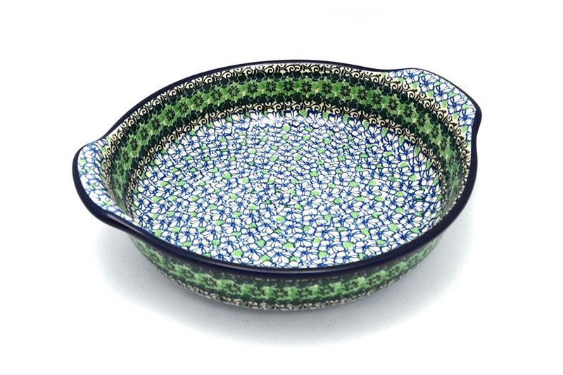 Ceramika Artystyczna Polish Pottery Baker - Round with Grips - Large - Kiwi 417-1479a (Ceramika Artystyczna)