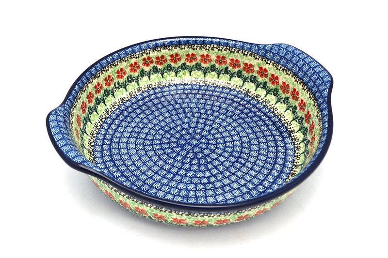 Ceramika Artystyczna Polish Pottery Baker - Round with Grips - Large - Maraschino 417-1916a (Ceramika Artystyczna)