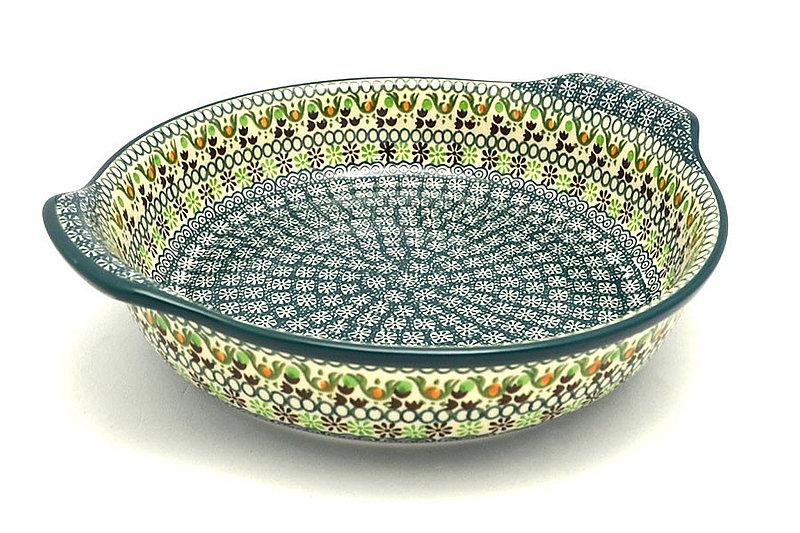 Ceramika Artystyczna Polish Pottery Baker - Round with Grips - Large - Mint Chip 417-2195q (Ceramika Artystyczna)