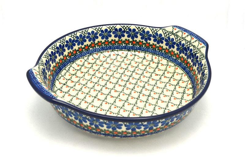 Ceramika Artystyczna Polish Pottery Baker - Round with Grips - Large - Primrose 417-854a (Ceramika Artystyczna)