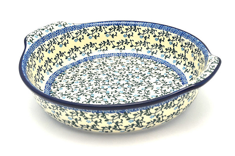 Ceramika Artystyczna Polish Pottery Baker - Round with Grips - Large - Terrace Vines 417-1822a (Ceramika Artystyczna)
