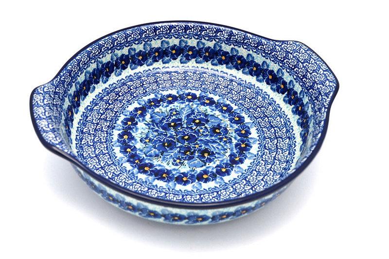 Ceramika Artystyczna Polish Pottery Baker - Round with Grips - Large - Unikat Signature U3639 417-U3639 (Ceramika Artystyczna)