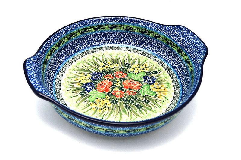 Ceramika Artystyczna Polish Pottery Baker - Round with Grips - Large - Unikat Signature U4400 417-U4400 (Ceramika Artystyczna)