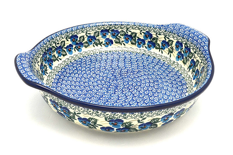 Ceramika Artystyczna Polish Pottery Baker - Round with Grips - Large - Winter Viola 417-2273a (Ceramika Artystyczna)