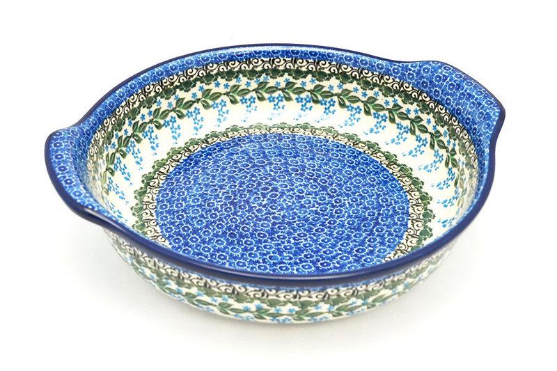 Ceramika Artystyczna Polish Pottery Baker - Round with Grips - Large - Wisteria 417-1473a (Ceramika Artystyczna)