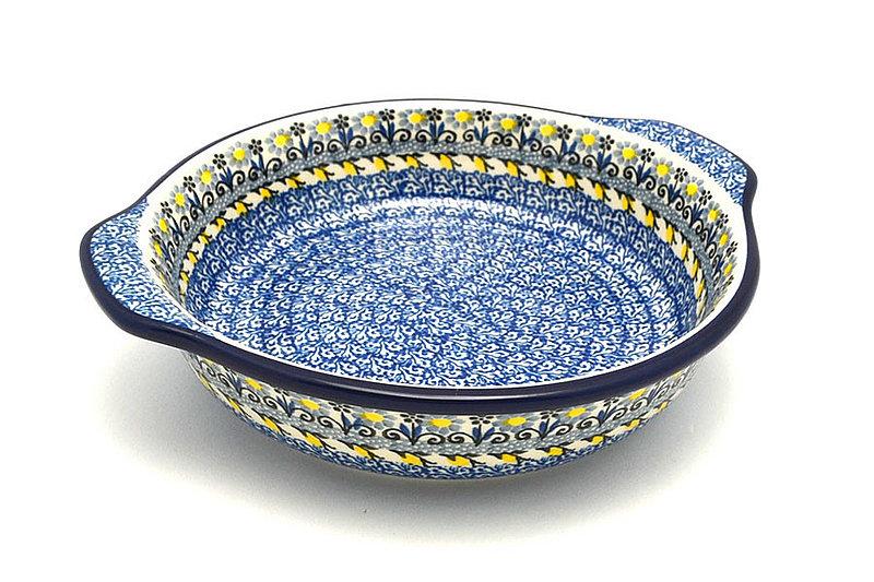 Ceramika Artystyczna Polish Pottery Baker - Round with Grips - Medium - Daisy Maize 141-2178a (Ceramika Artystyczna)