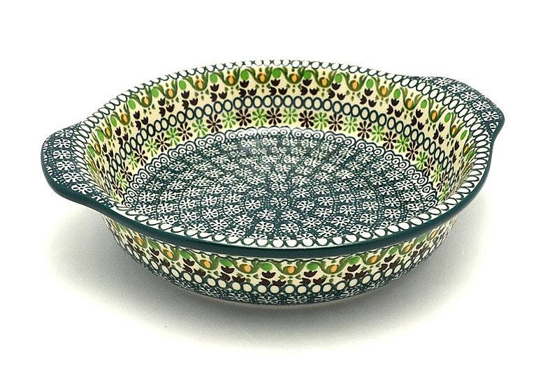 Ceramika Artystyczna Polish Pottery Baker - Round with Grips - Medium - Mint Chip 141-2195q (Ceramika Artystyczna)