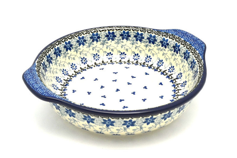 Ceramika Artystyczna Polish Pottery Baker - Round with Grips - Medium - Silver Lace 141-2158a (Ceramika Artystyczna)