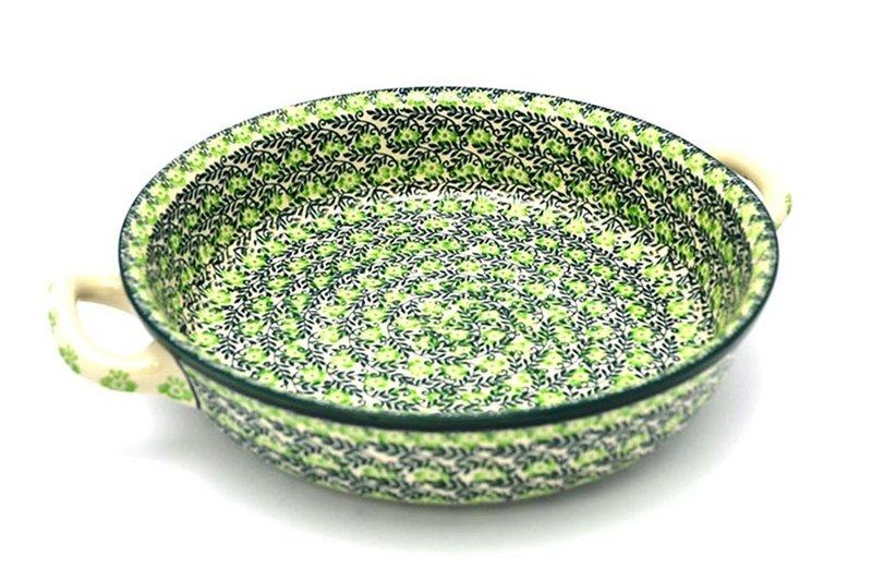 Ceramika Artystyczna Polish Pottery Baker - Round with Handles - Large - Irish Meadow 420-1888q (Ceramika Artystyczna)