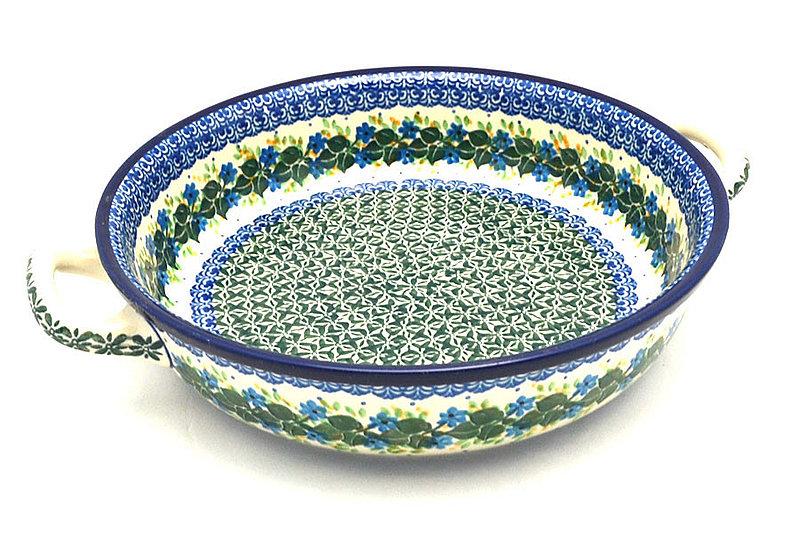 Ceramika Artystyczna Polish Pottery Baker - Round with Handles - Large - Ivy Trail 420-1898a (Ceramika Artystyczna)