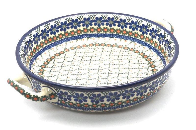 Ceramika Artystyczna Polish Pottery Baker - Round with Handles - Large - Primrose 420-854a (Ceramika Artystyczna)