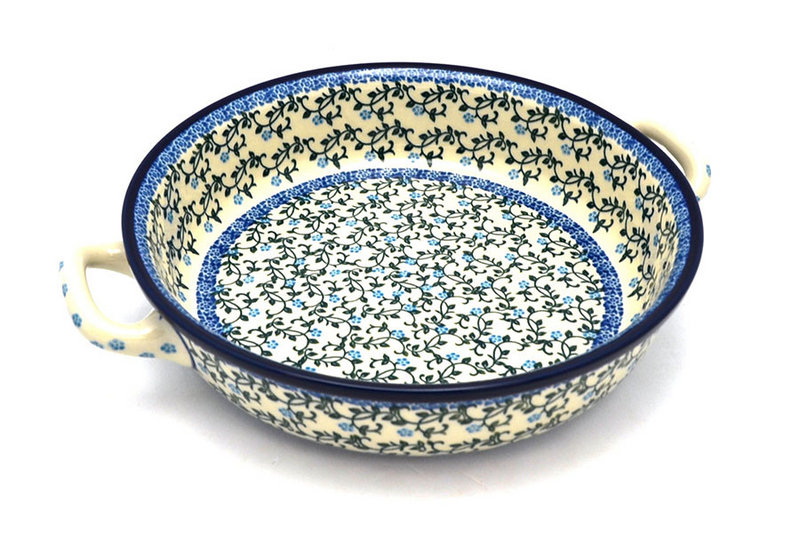 Ceramika Artystyczna Polish Pottery Baker - Round with Handles - Large - Terrace Vines 420-1822a (Ceramika Artystyczna)