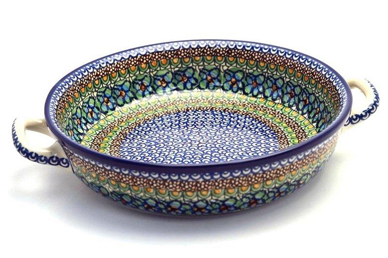 Ceramika Artystyczna Polish Pottery Baker - Round with Handles - Large - Unikat Signature U151 420-U0151 (Ceramika Artystyczna)