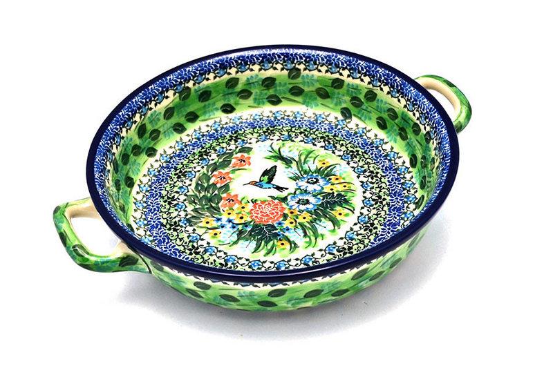 Ceramika Artystyczna Polish Pottery Baker - Round with Handles - Large - Unikat Signature U3271 420-U3271 (Ceramika Artystyczna)