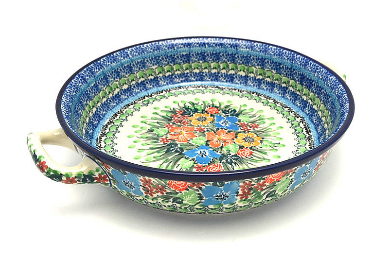 Ceramika Artystyczna Polish Pottery Baker - Round with Handles - Large - Unikat Signature U3347 420-U3347 (Ceramika Artystyczna)