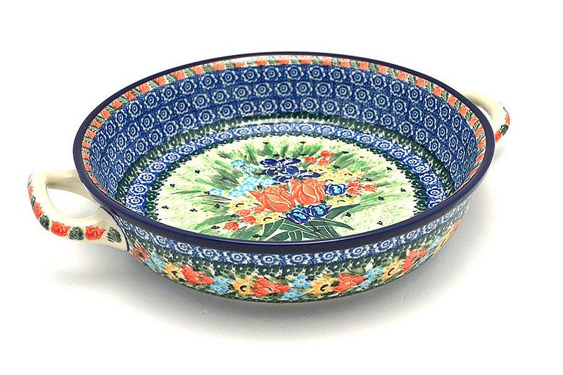 Ceramika Artystyczna Polish Pottery Baker - Round with Handles - Large - Unikat Signature U3516 420-U3516 (Ceramika Artystyczna)