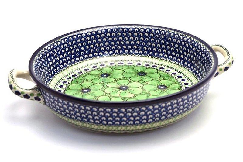 Ceramika Artystyczna Polish Pottery Baker - Round with Handles - Large - Unikat Signature U408A 420-U408A (Ceramika Artystyczna)