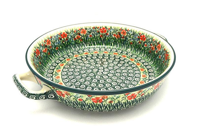 Ceramika Artystyczna Polish Pottery Baker - Round with Handles - Large - Unikat Signature U4336 420-U4336 (Ceramika Artystyczna)