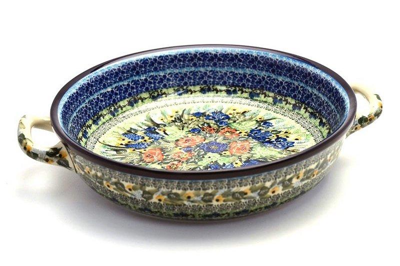 Ceramika Artystyczna Polish Pottery Baker - Round with Handles - Large - Unikat Signature U4400 420-U4400 (Ceramika Artystyczna)